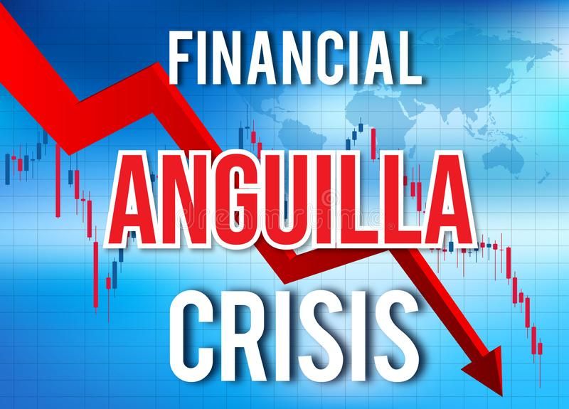 Anguilla Financial Crisis Economic Collapse Market Crash Global Meltdown. Illustration vector illustration