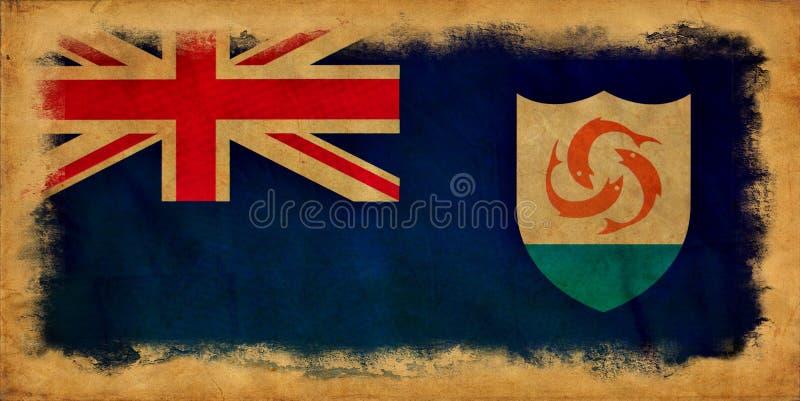 Anguilla grungeflagga royaltyfri foto