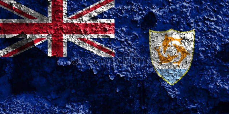 Anguilla grungeflagga, depe för brittiska utländska territorier, Britannien arkivfoton