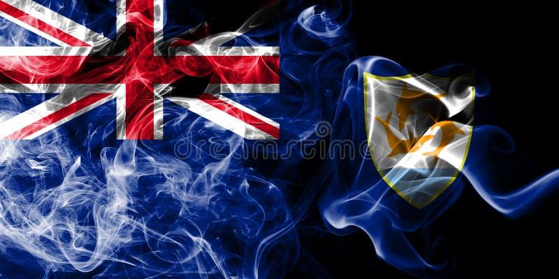 Anguilla rökflagga, beroende territorium flagga för brittiska utländska territorier, Britannien stock illustrationer