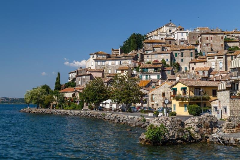 Anguillara Sabazia, città medievale fotografie stock