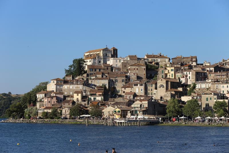 Anguillara on Bracciano lake royalty free stock images