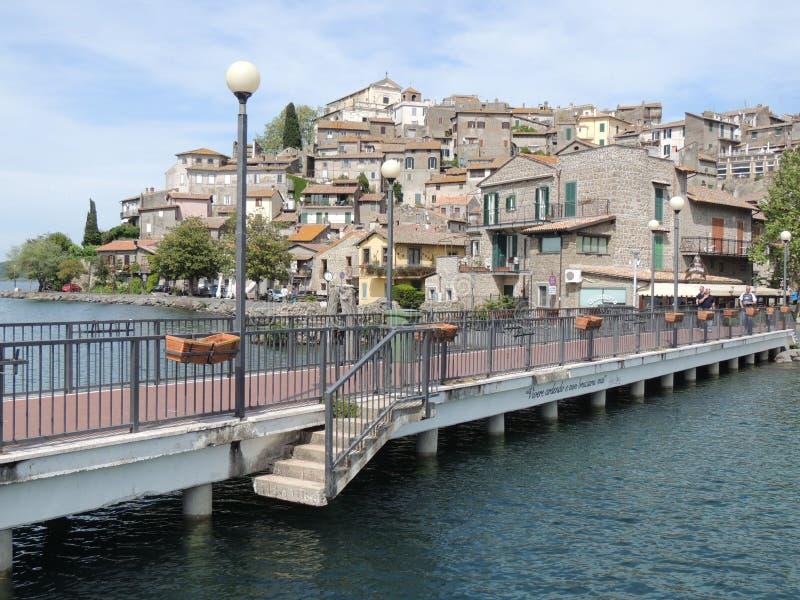 Anguillara. Sabazia is a small city on the Bracciano Lake near Roma the capital, Lazio, Italy royalty free stock image
