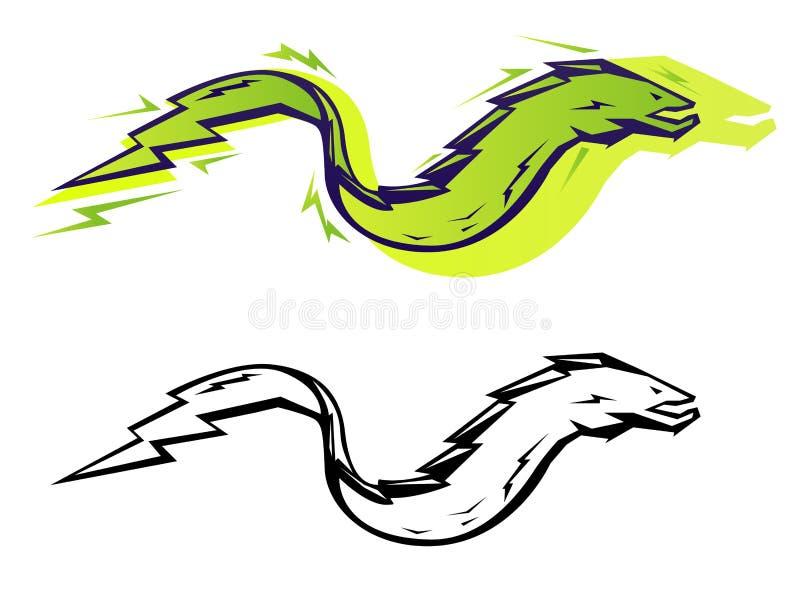 Anguille graphique illustration de vecteur