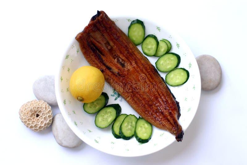 Anguille grillée/Unagi, japonais photos stock