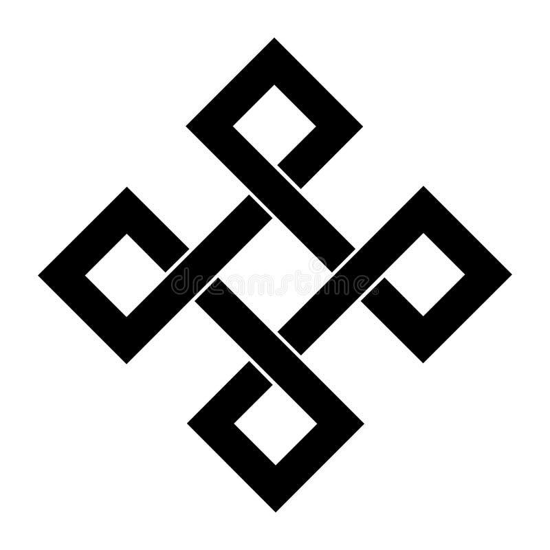 Angular bowen knot symbol. With a white background royalty free illustration