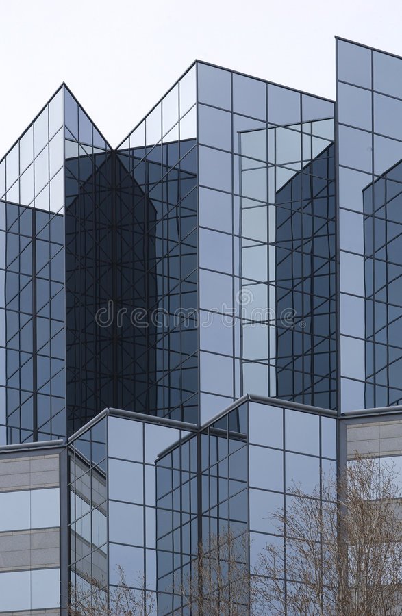 Angular corporate exterior. Angular corporate glass exterior stock photos