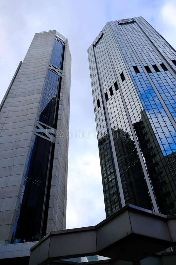 Angular Modern Commercial Skyscrapers, Sydney, Australia royalty free stock images