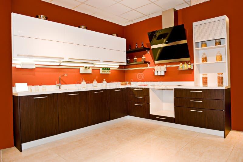 Angular modern kitchen. Angular modern furniture for a kitchen royalty free stock images