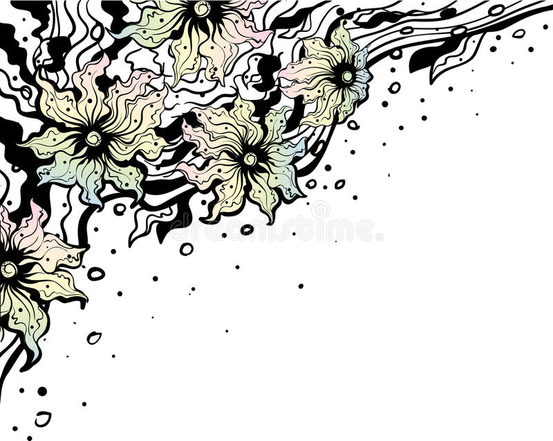 Download Angular Vanilla Floral Ornament Stock Illustration - Illustration: 28328144