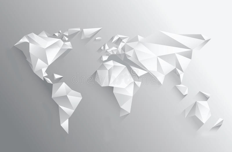 Angular white world map on grey stock vector illustration of download angular white world map on grey stock vector illustration of vector design gumiabroncs Choice Image