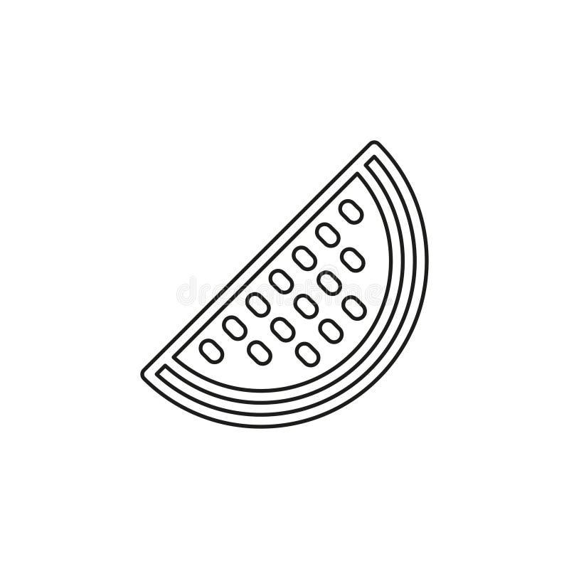 Anguria di vettore, frutta della fetta dell'anguria illustrazione vettoriale