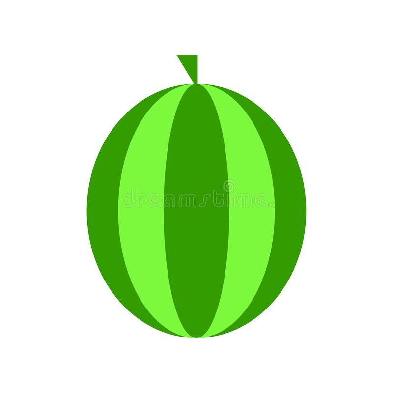 Anguria di vettore, illustrazione della frutta della fetta dell'anguria, alimento sano fresco - alimento naturale organico isolat illustrazione vettoriale