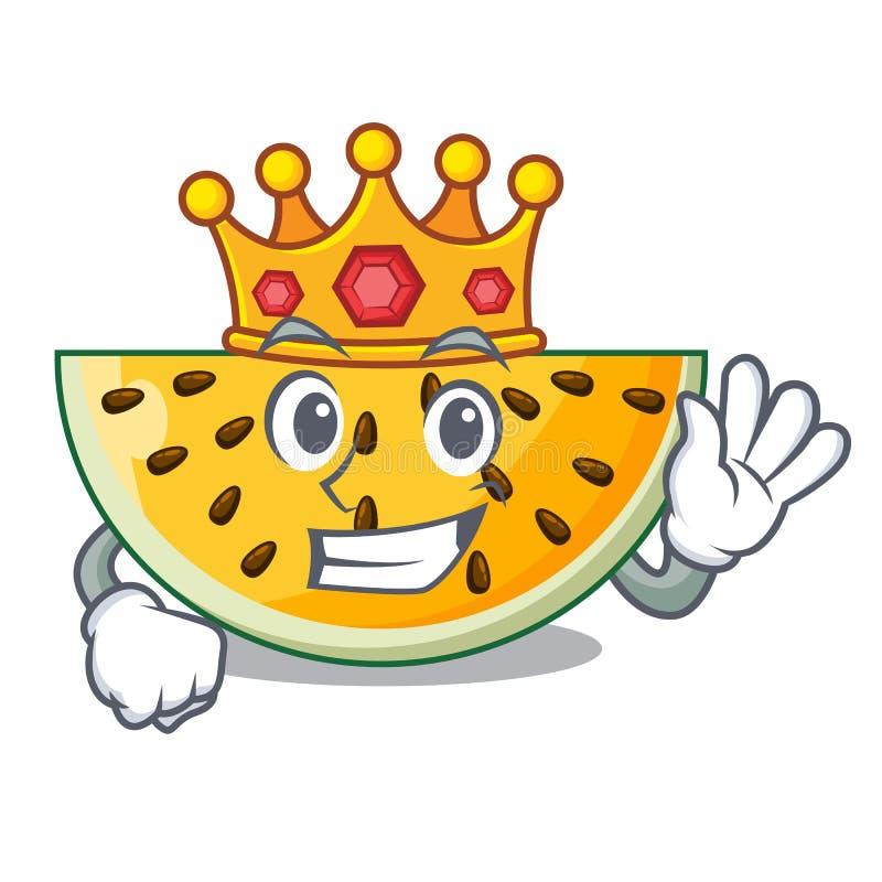 Anguria gialla matura di re isolata sulla mascotte illustrazione di stock