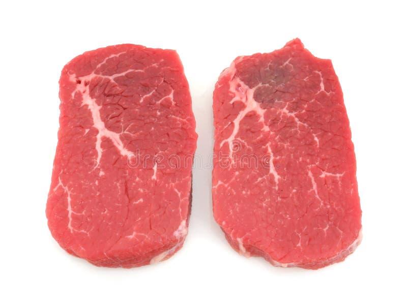Angus beef eye round steak royalty free stock photo