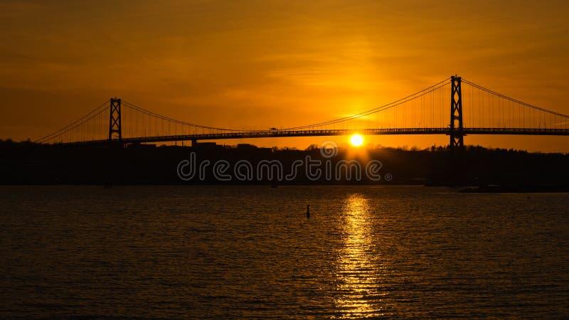 Angus L Macdonald Bridge stock foto
