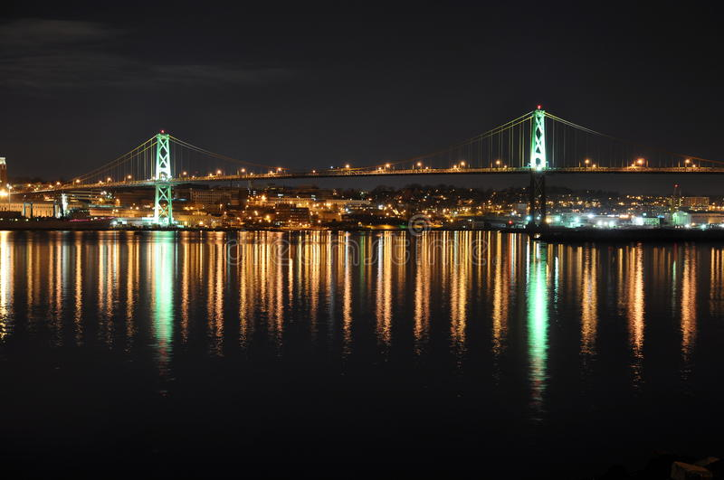Angus L. Macdonald Bridge Halifax royalty-vrije stock fotografie
