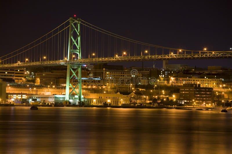 Angus L. MacDonald Bridge, Halifax royalty-vrije stock afbeelding