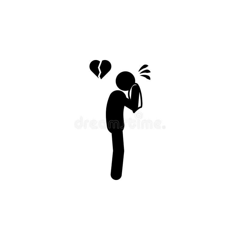 angustia, icono del hombre Elemento del icono negativo del carácter del hombre para los apps móviles del concepto y del web La an stock de ilustración
