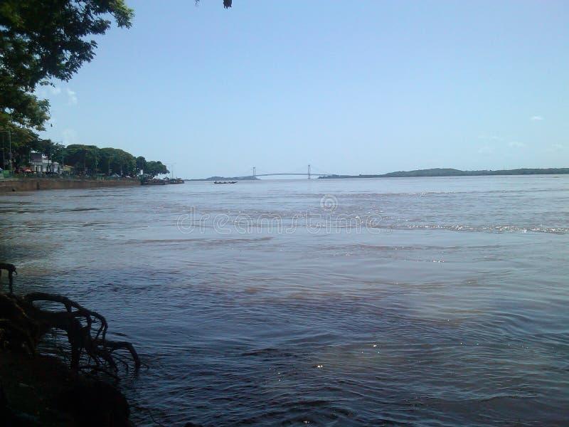 Angustura da Venezuela de Orinoco BolÃvar do rio foto de stock royalty free