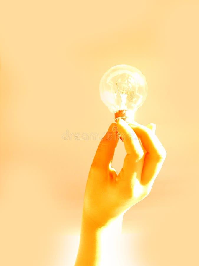Anhalten einer Glühlampe stockfotos