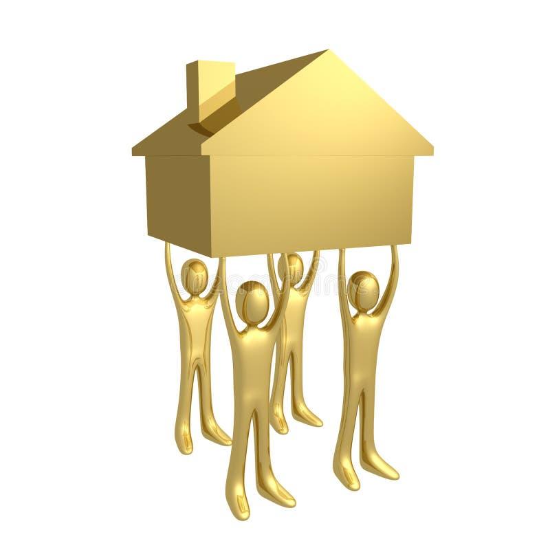 Anhalten eines Hauses vektor abbildung
