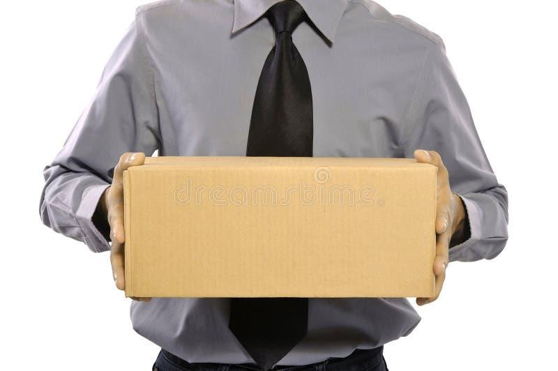 Download Anhalten eines Pakets stockfoto. Bild von mann, konzept - 26370634