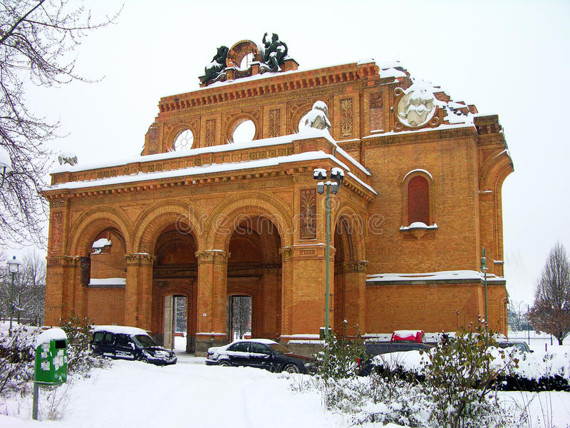 Anhalter Bahnhof, Berlijn stock foto's