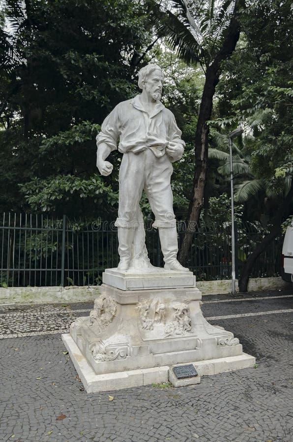 Anhanguera statua przy Trianon parkiem, Sao Paulo SP Brazylia obrazy stock