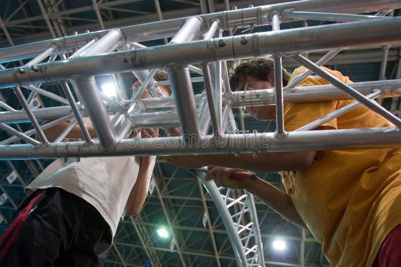 Anheben der Metallstruktur lizenzfreie stockbilder