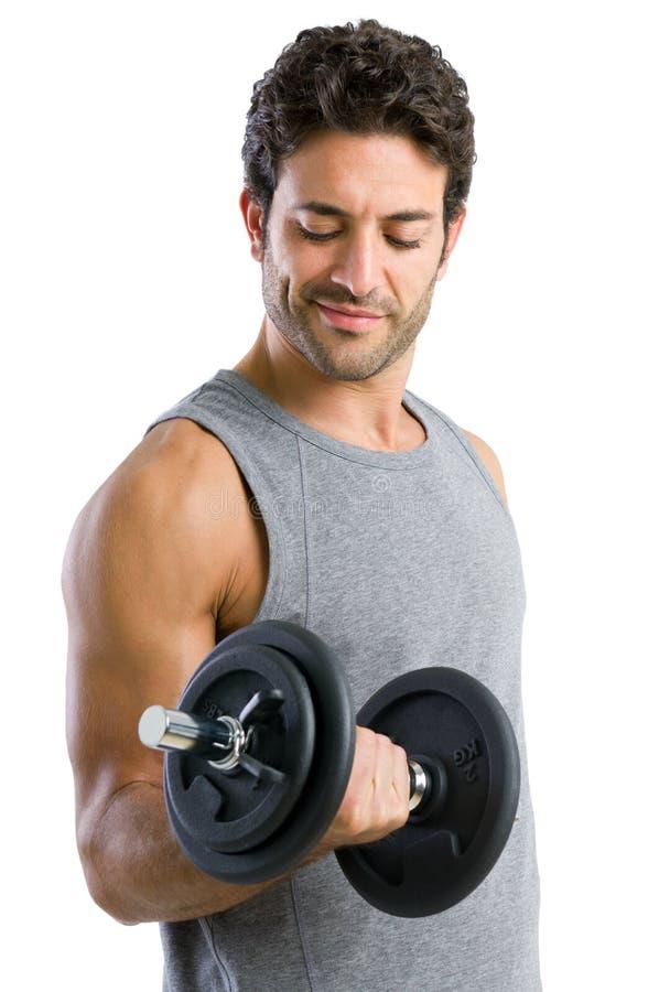 Anhebende Gewichte stockfotos