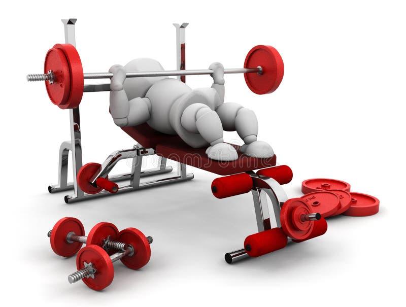 Anhebende Gewichte stock abbildung