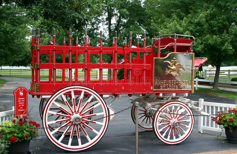Anheuser Busch beer wagon royalty free stock photo