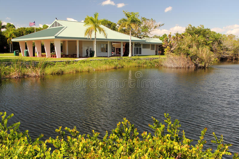 Anhinga Trail Visitor Center. The Anhinga Trail Visitor Center offers visitors an opportunity to understand the workings of the Everglades ecosystem, United stock photography