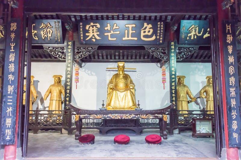ANHUI, CHINA - 25 de novembro de 2015: Templo de Baogong um si histórico famoso fotos de stock royalty free
