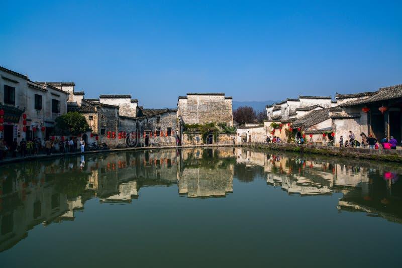 Anhui Hong cunby royaltyfria bilder