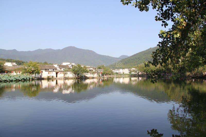 In Anhui-Provincie, het dorp van China Hongcun stock foto's