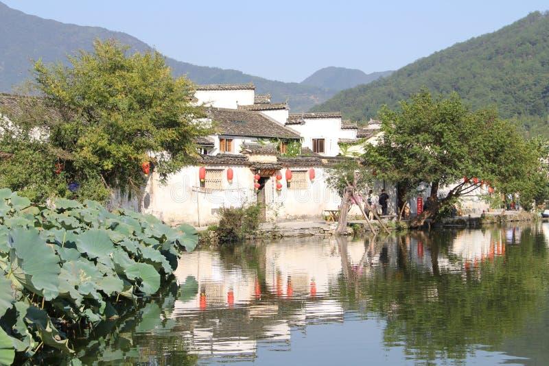 In Anhui-Provincie, het dorp van China Hongcun royalty-vrije stock afbeelding