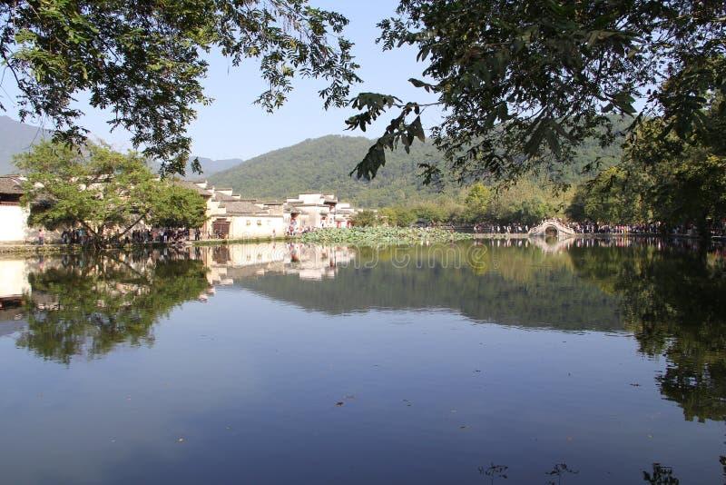 In Anhui-Provincie, het dorp van China Hongcun royalty-vrije stock foto