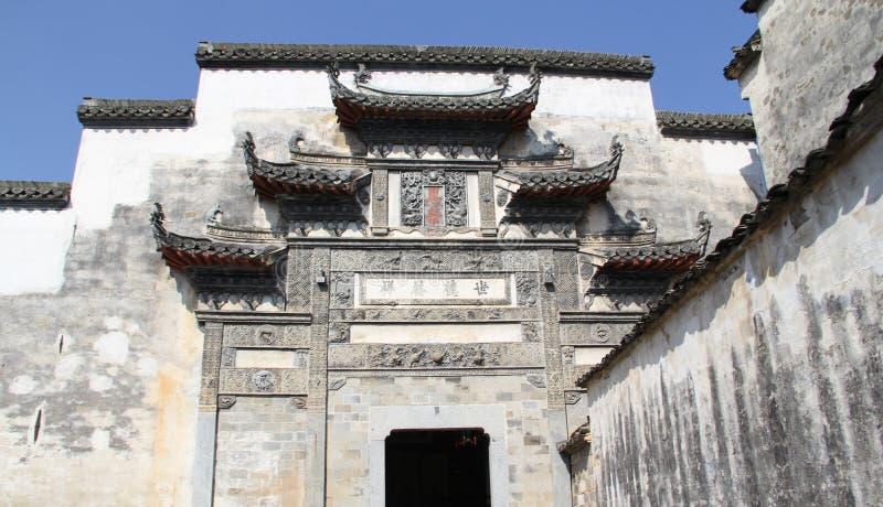 In Anhui-Provincie, het dorp van China Hongcun stock afbeeldingen