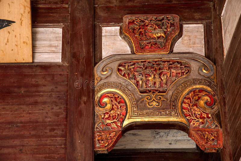 Anhui Yi Xian Hongcun Chengzhi Church royaltyfri foto