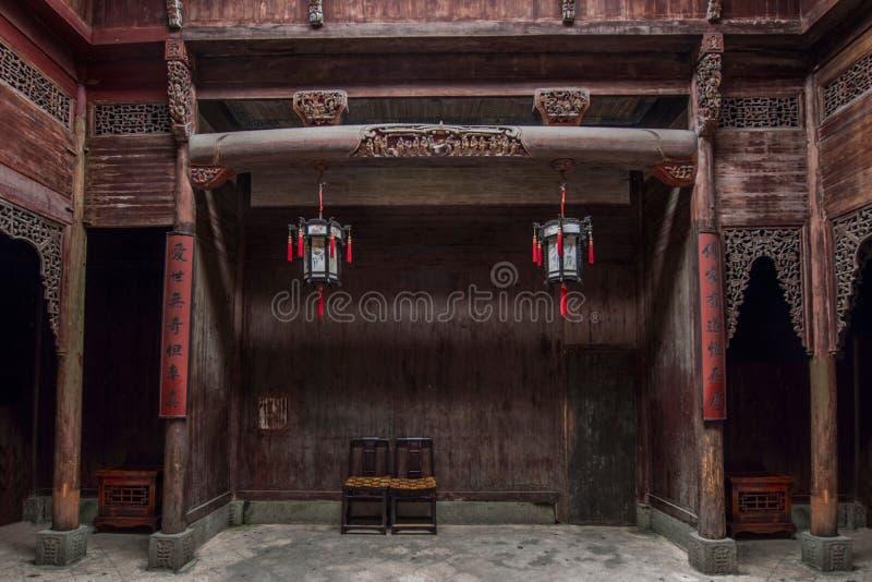 Anhui Yi Xian Hongcun Chengzhi Church arkivbilder
