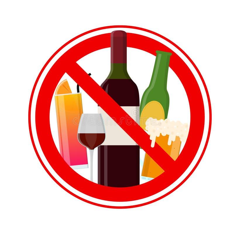 ani śladu alkoholu wektor ilustracja wektor