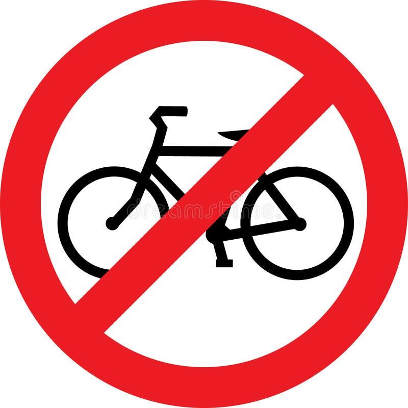ani śladu na rowerze ilustracja wektor