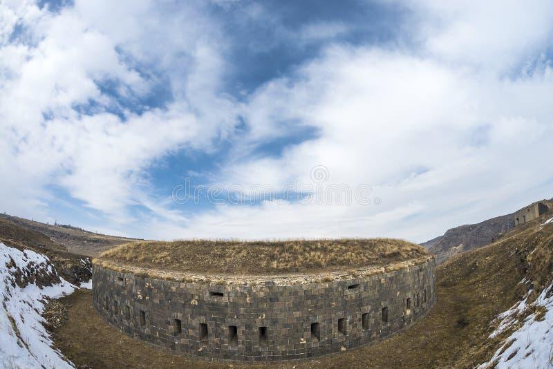 Ani Ruins Winter HDR (4 Season). Winter rewiev Chess Gate Ani Ruins HDR stock photos
