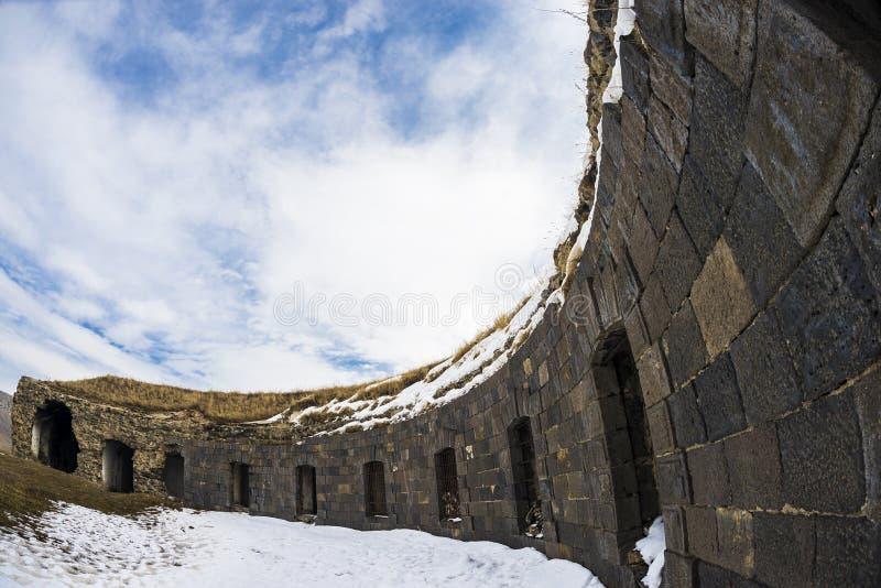 Ani Ruins Winter HDR (Seizoen 4) stock foto