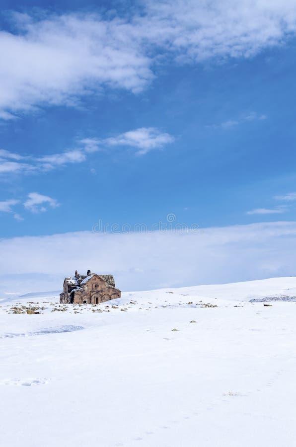 Ani Ruins Winter (Seizoen 4) royalty-vrije stock foto's