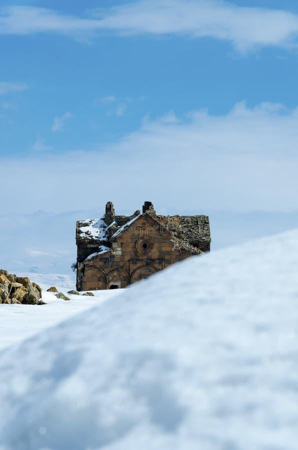 Ani Ruins Winter (Seizoen 4) stock foto's