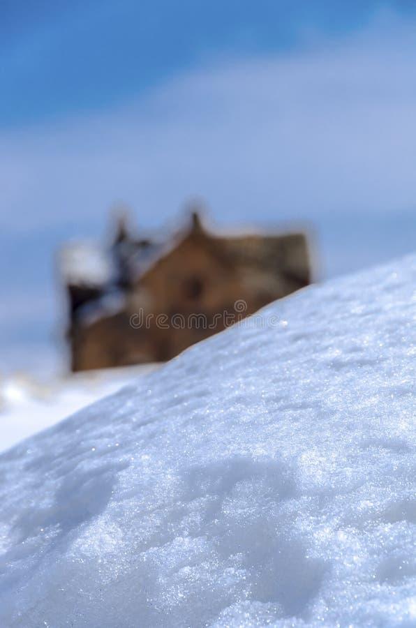 Ani Ruins Winter (Seizoen 4) stock fotografie