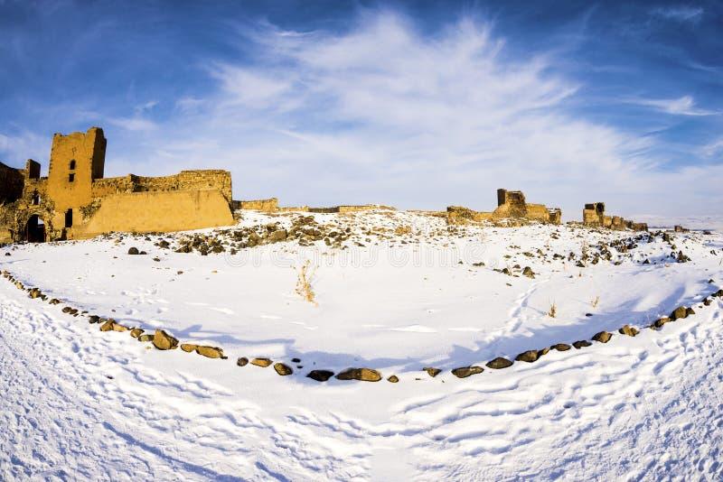 Ani Ruins Winter (Seizoen 4) stock afbeeldingen